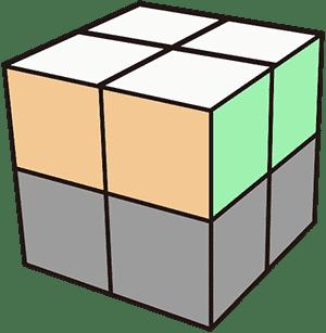 2x2魔術方塊基本解法 第一層復原