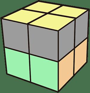 2x2魔術方塊基礎復原解法教學 頂面