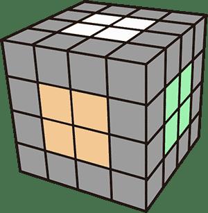 4x4魔術方塊基礎復原解法-降階法 中心