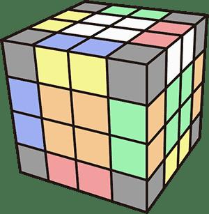 4x4魔術方塊基礎復原解法-降階法 邊塊