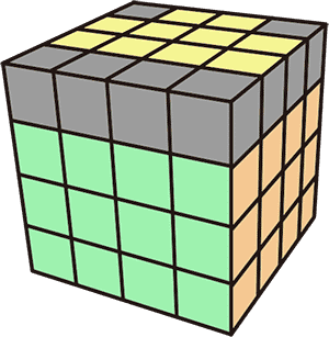 4x4魔術方塊基礎復原解法-降階法 特殊狀況 單邊反轉