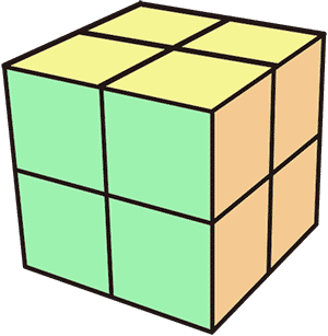 2x2魔術方塊Ortega-中間層