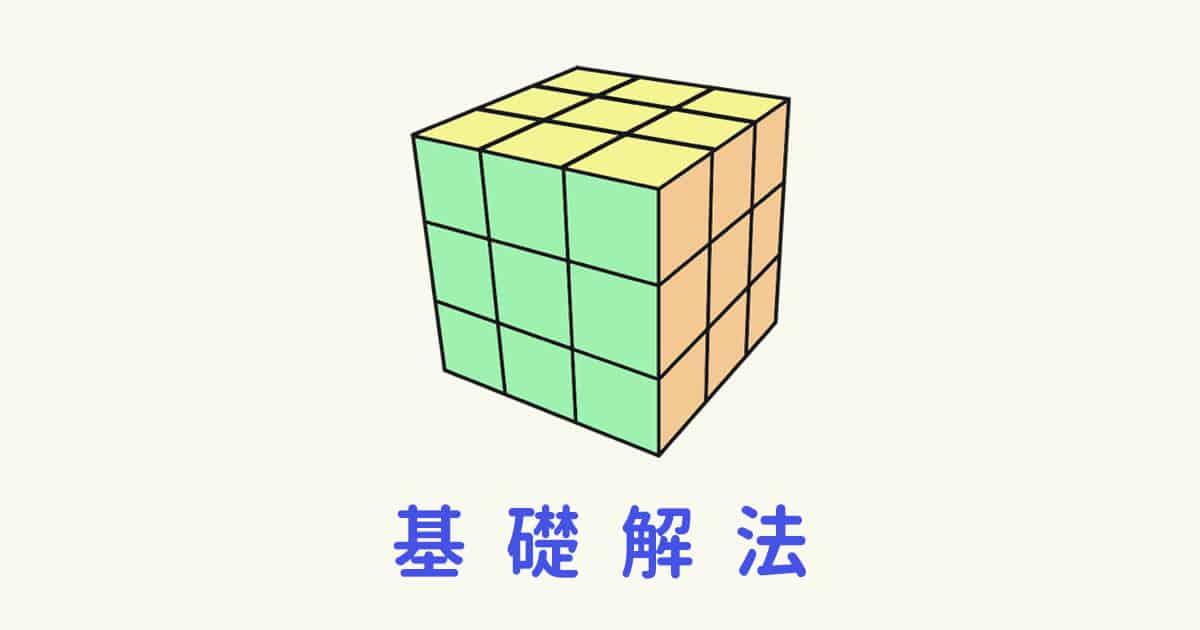 3x3魔術方塊基礎解法