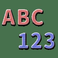 bld numbers english alphabet coding logo